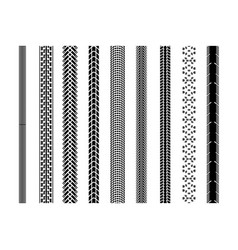 Bicycle tire tread track vector