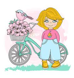 bird party valentines day set vector image