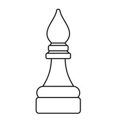 Bishop piece icon outline style vector