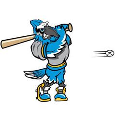 Blue jay baseball sports logo mascot vector