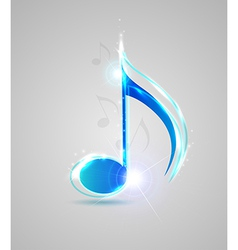 Blue shining note vector