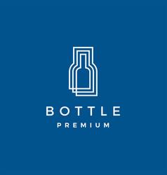 Bottle logo icon vector