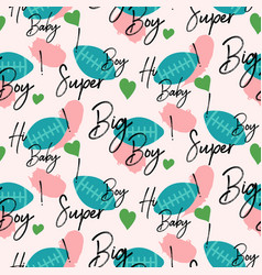 boys rugby sport seamless pattern vector image