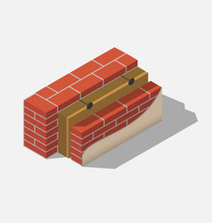 building brick wall layers vector image
