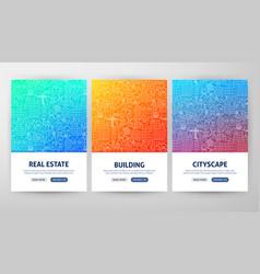 Building flyer concepts vector
