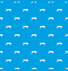 bull pattern seamless blue vector image vector image