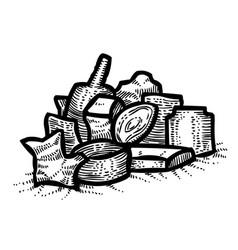 Cartoon image of garbage symbol vector