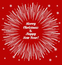 Christmas card with firecracker vector