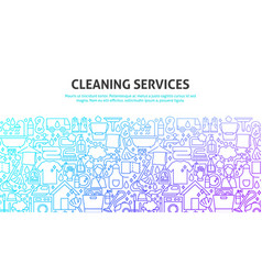 Cleaning services concept vector