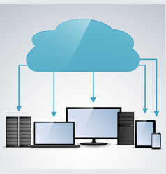 Cloud computing concept info graphic template vector