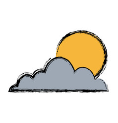 cloud sun sky weather seasonal climate icon vector image