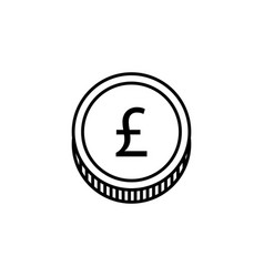 coin pound icon element of finance signs and vector image