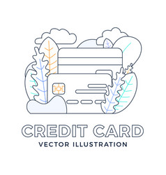 credit card stock isolated on white background vector image