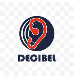 Decibel logo isolated on white background vector