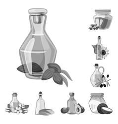Design nutrition and organics icon set vector