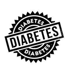 Diabetes rubber stamp vector