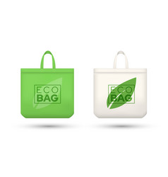 eco friendly shopping bags realistic vector image