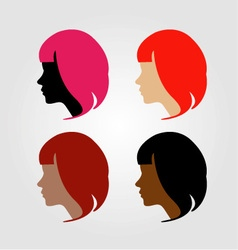 Faces of four multi-ethnic women vector image
