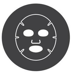 Facial mask flat icon vector