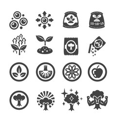 fertilizer icon vector image