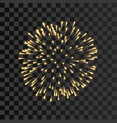 firework gold sparkle isolated transparent vector image