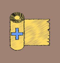 Flat shading style icon medicine napkins vector