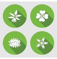 Flower icons set Anemone forget-me-not vector