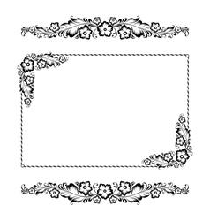 flower ornament pattern vector image