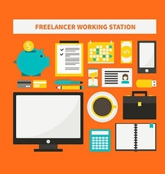 Freelance objects vector
