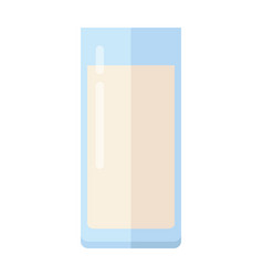 glass of milk flat design vector image