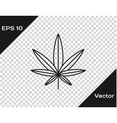 Grey medical marijuana or cannabis leaf icon vector