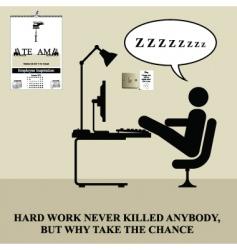 hard work vector image