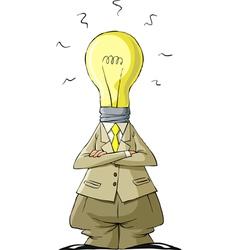 head bulb vector image