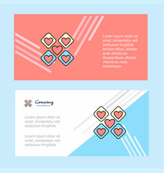 hearts blocks abstract corporate business banner vector image