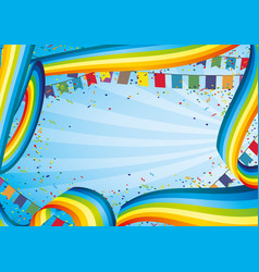 Holiday banner with rainbows and flags vector