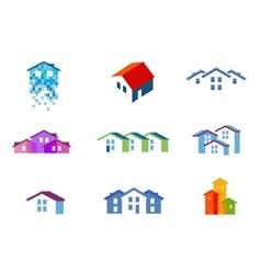 house logo design template town or vector image