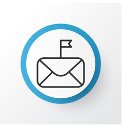 Important mail icon symbol premium quality vector