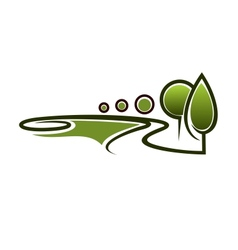 Landscape area symbol vector