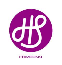 letter hs logo vector image