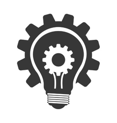 Light bulb with gear icon Energy design vector image