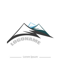logo company with mountain flat design on white vector image