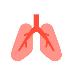Lungs medical and hospital related flat design vector