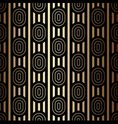 Luxury golden seamless pattern with ovals and vector