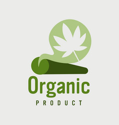 marijuana joint rolled cannabis cigarette ganja vector image