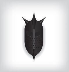 Medieval black warrior helmet vector image