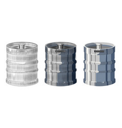 Metal beer keg isolated on white background hand vector