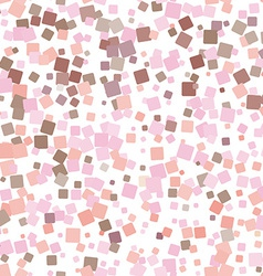 Mosaic pink seamless pattern on white background vector image