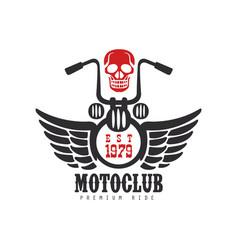 Motoclub logo premium ride est 1979 design vector