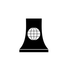 nuclear station world icon on white background vector image
