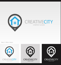 Position home creative logo vector